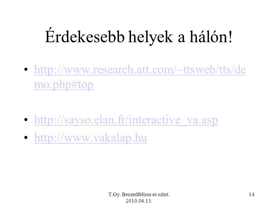 T.Gy. Beszedfelism es szint. 2010.04.13. 13