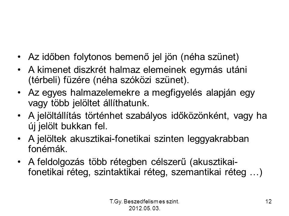 T.Gy. Beszedfelism es szint. 2012.05. 03.