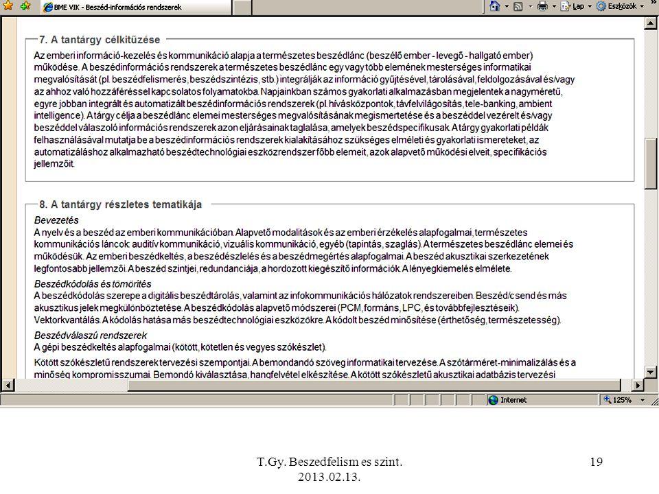 T.Gy. Beszedfelism es szint. 2013.02.13. 19