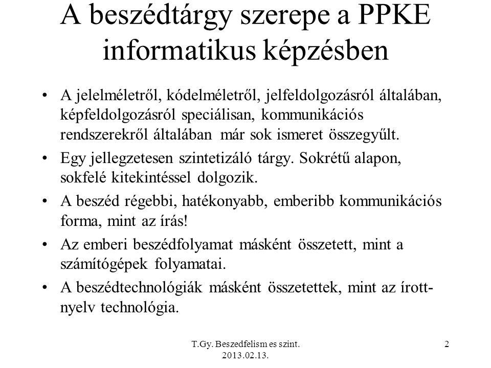 T.Gy. Beszedfelism es szint. 2013.02.13.