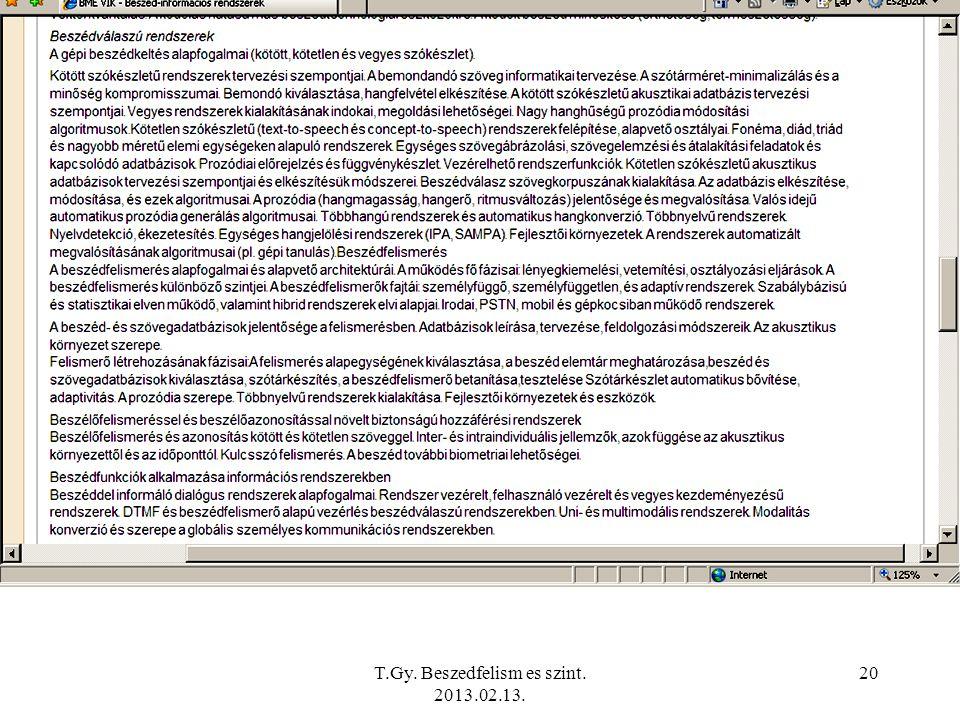 T.Gy. Beszedfelism es szint. 2013.02.13. 20