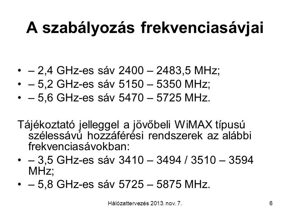 Hálózattervezés 2013. nov.
