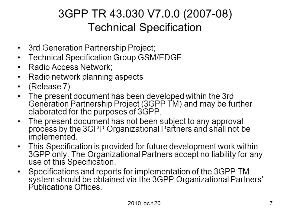 2010. oc.t 20.18 Example of RF ‑ budget for GSM 900 MS handheld RF ‑ output peak power 2 W