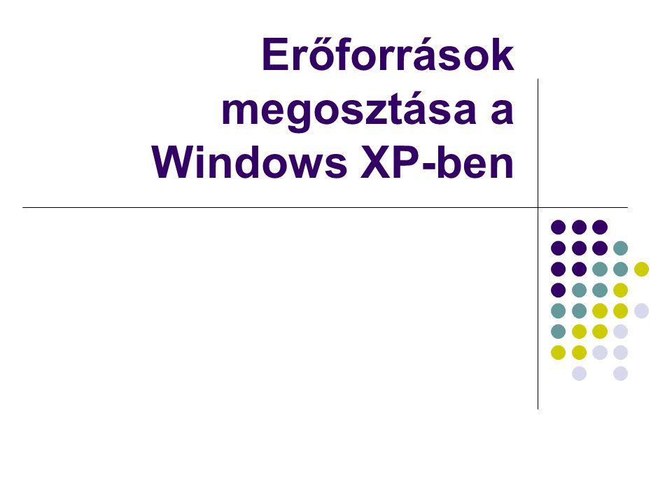 Erőforrások megosztása a Windows XP-ben