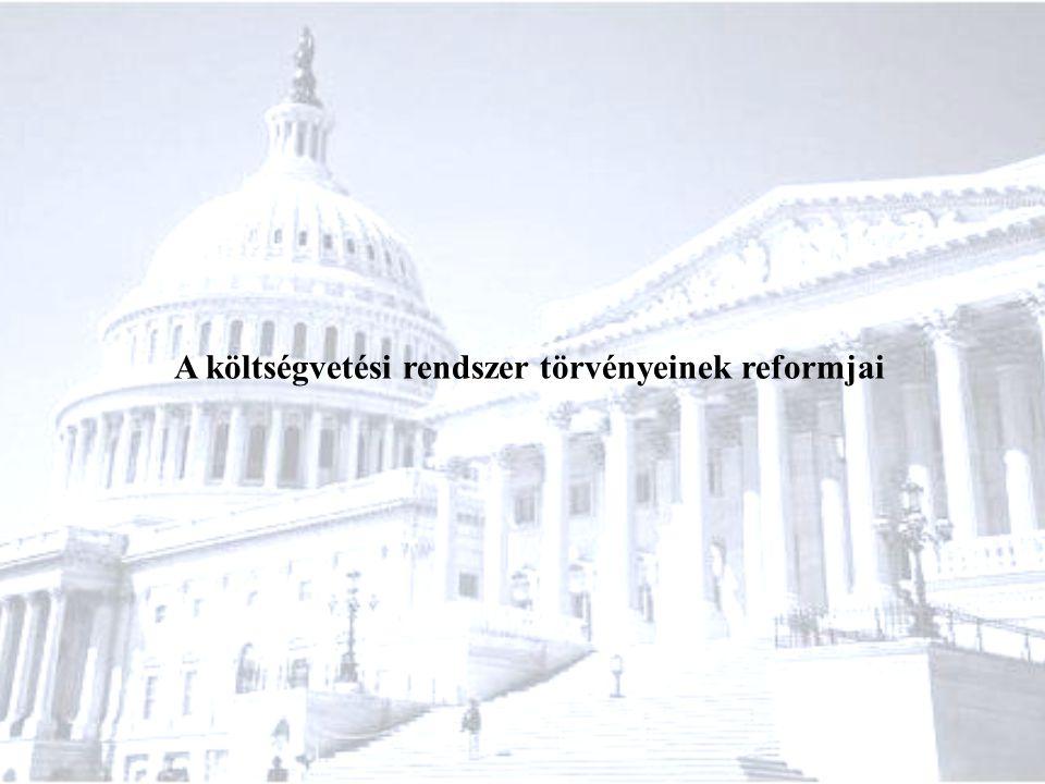 A költségvetési rendszer törvényeinek reformjai
