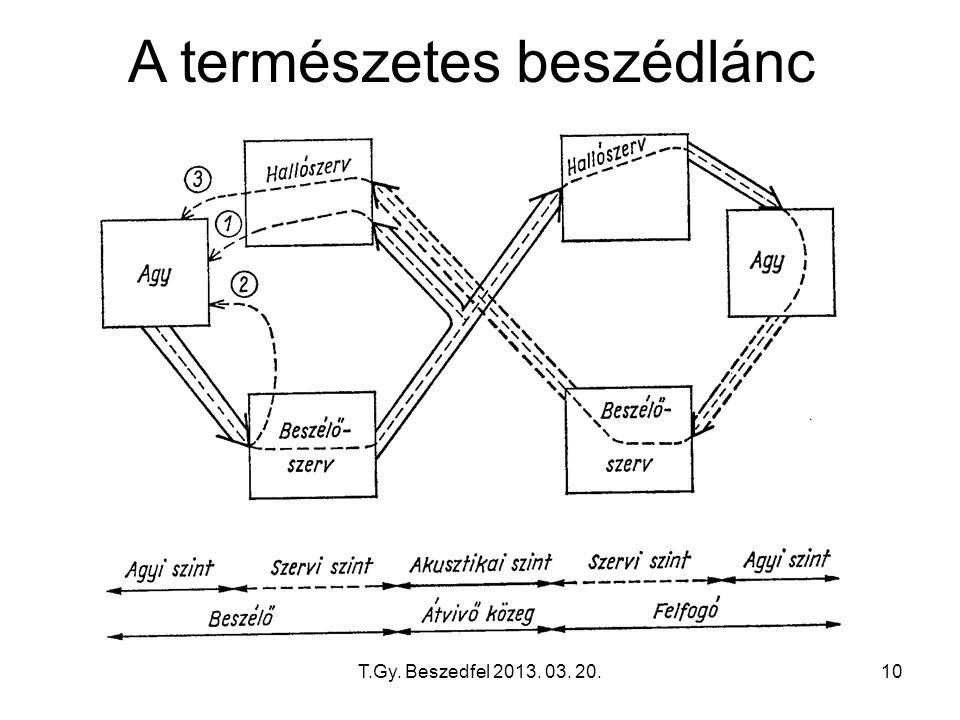 T.Gy. Beszedfel 2013. 03. 20.10 A természetes beszédlánc