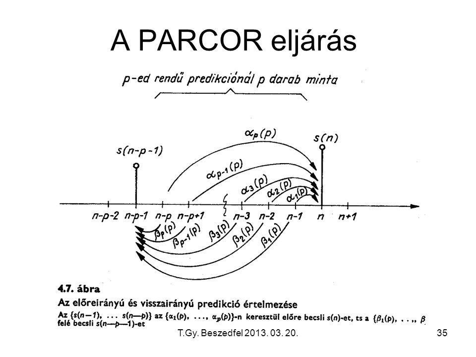 T.Gy. Beszedfel 2013. 03. 20.35 A PARCOR eljárás