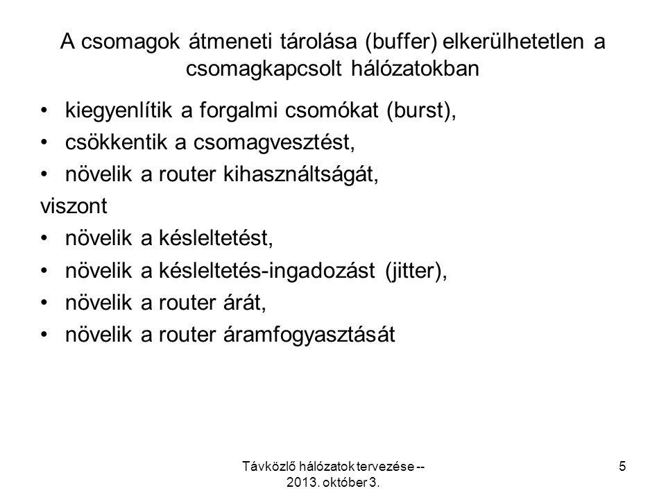 Távközlő hálózatok tervezése -- 2013. október 3. 26