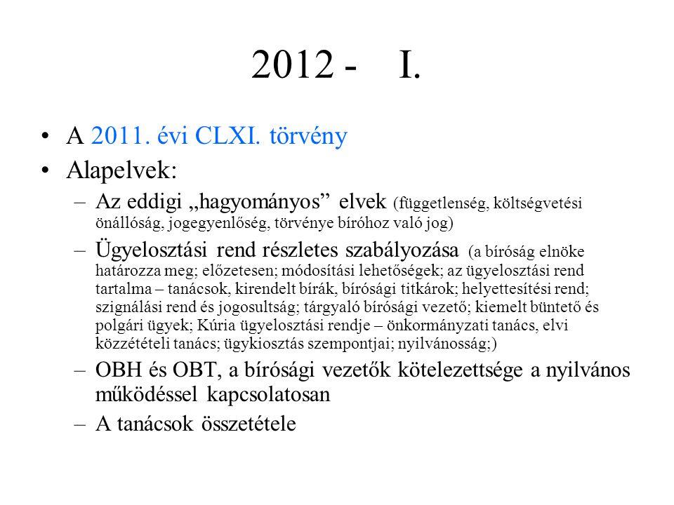 2012 - I.A 2011. évi CLXI.