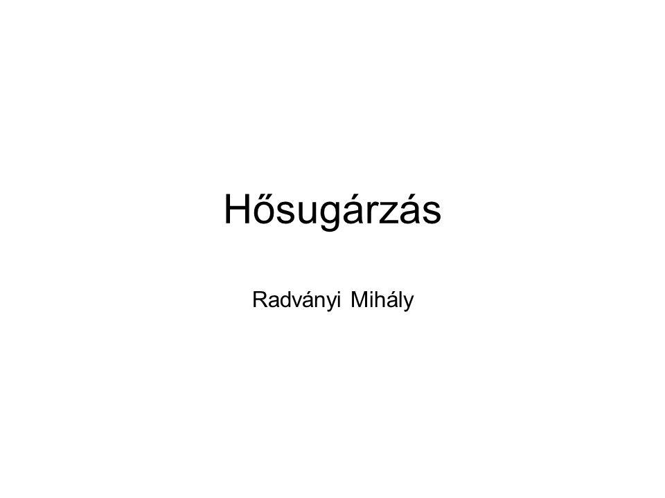 Hősugárzás Radványi Mihály