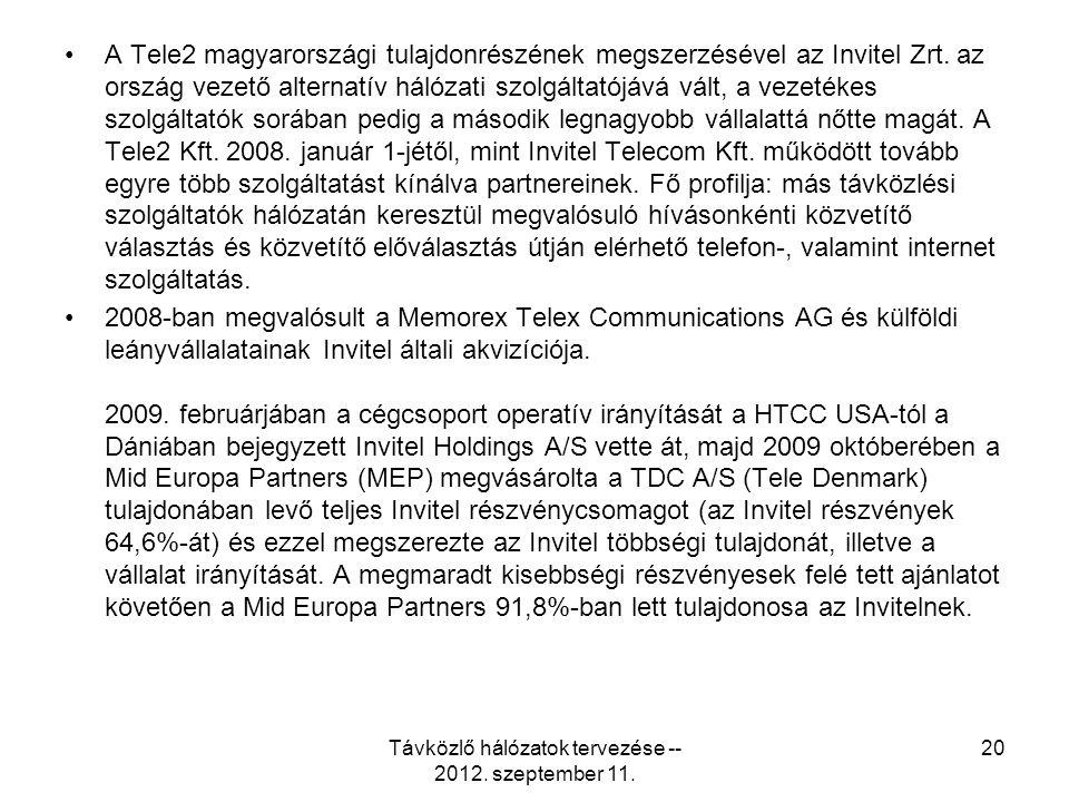A Tele2 magyarországi tulajdonrészének megszerzésével az Invitel Zrt.