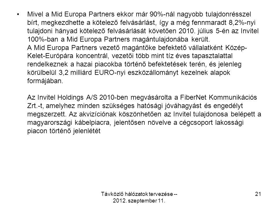 Mivel a Mid Europa Partners ekkor már 90%-nál nagyobb tulajdonrésszel bírt, megkezdhette a kötelező felvásárlást, így a még fennmaradt 8,2%-nyi tulajdoni hányad kötelező felvásárlását követően 2010.