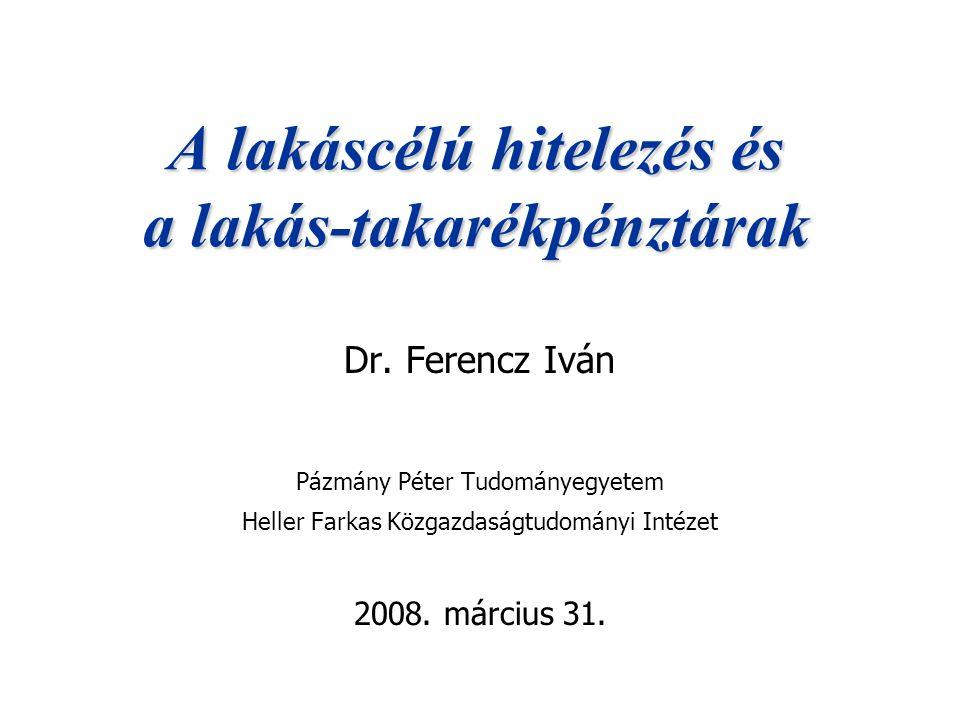 2008.03.31.Dr.Ferencz Iván21 Lakástakarékpénztár: lakáscél 1.