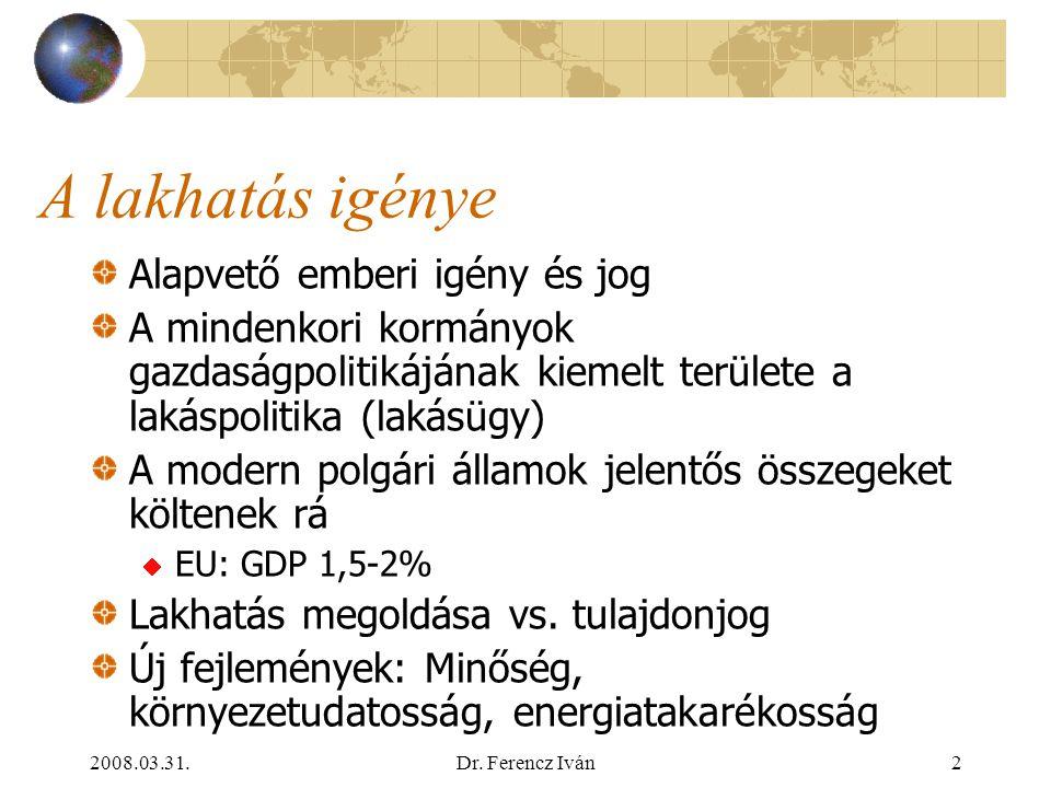 2008.03.31.Dr.Ferencz Iván42 A szabályozás továbbfejlesztésének irányai 2.