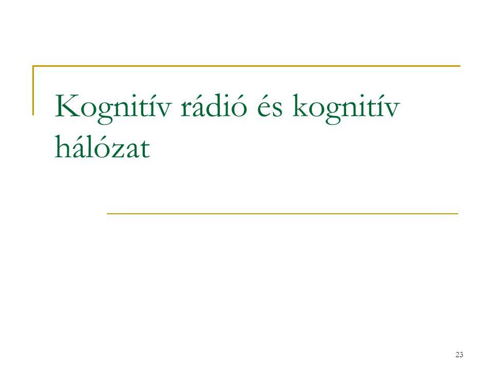 23 Kognitív rádió és kognitív hálózat