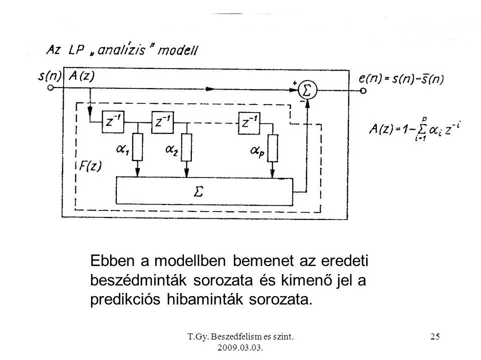 T.Gy. Beszedfelism es szint. 2009.03.03.
