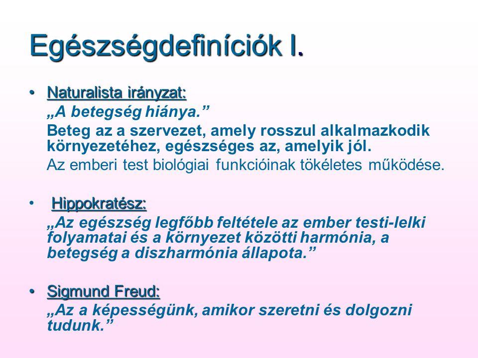 Egészségdefiníciók I.