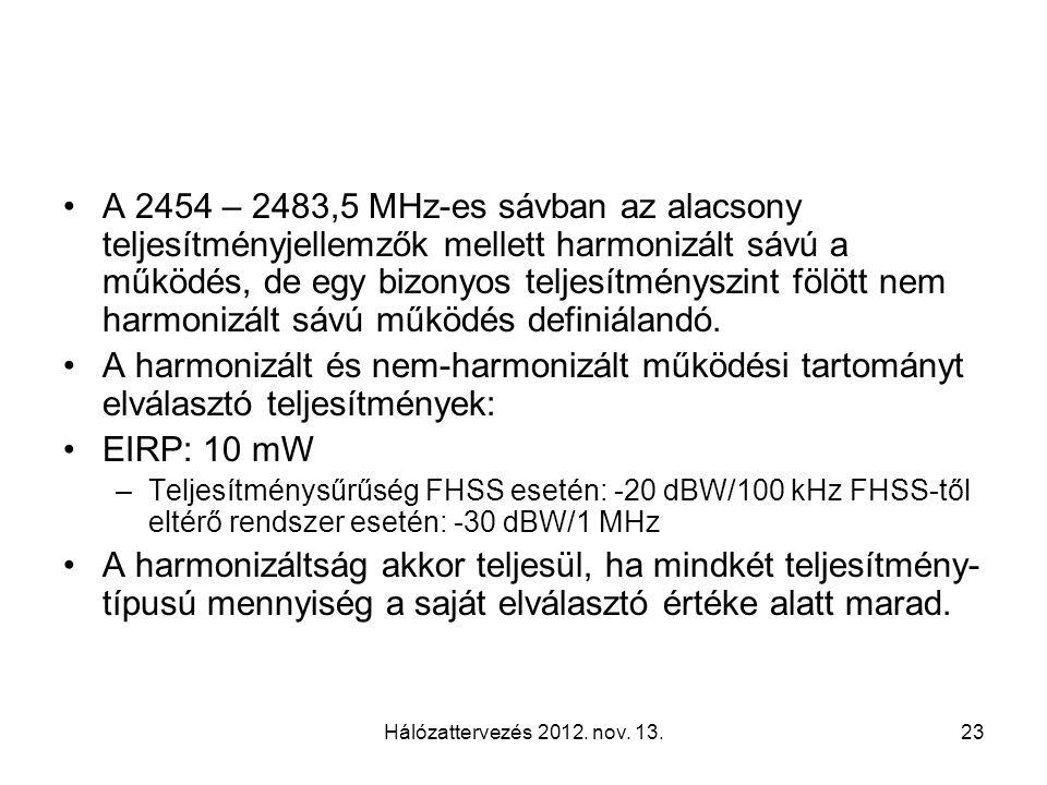 Hálózattervezés 2012. nov.