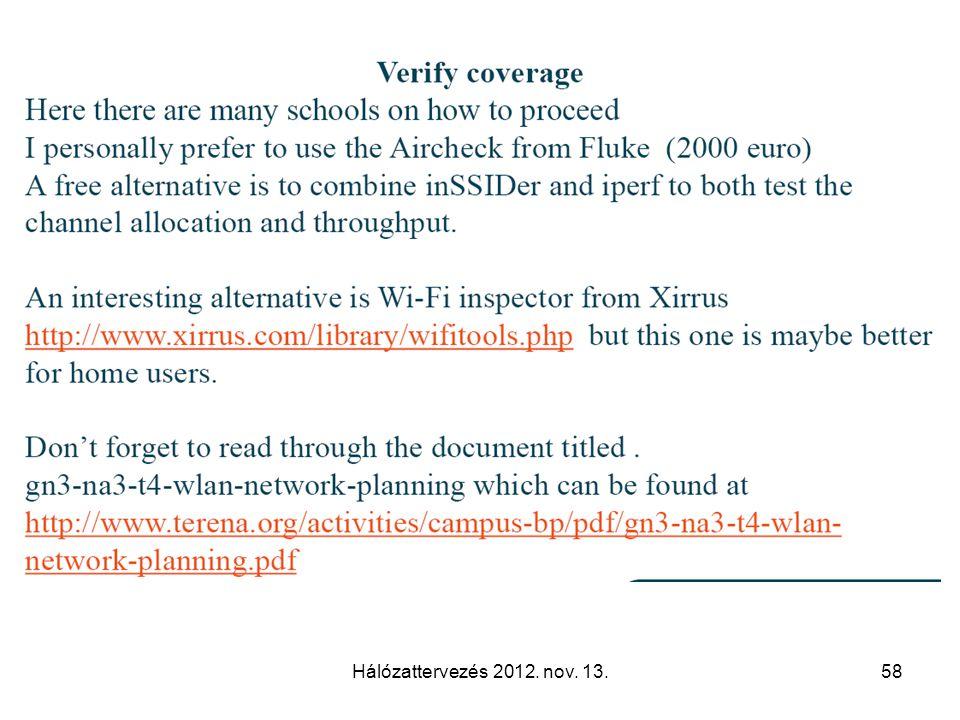 Hálózattervezés 2012. nov. 13.58
