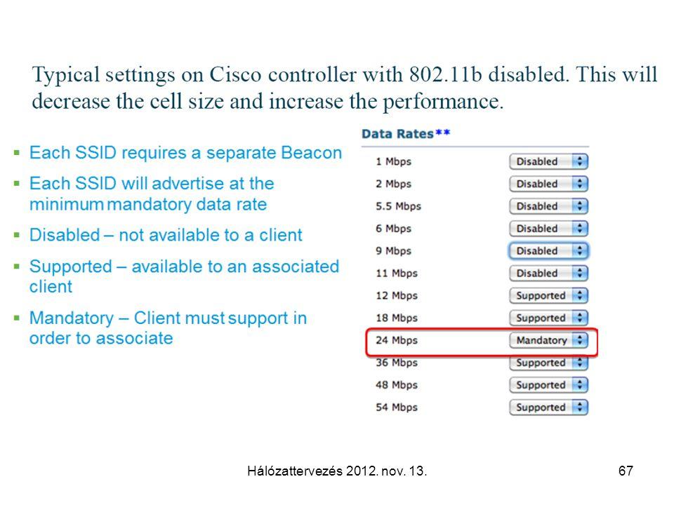 Hálózattervezés 2012. nov. 13.67