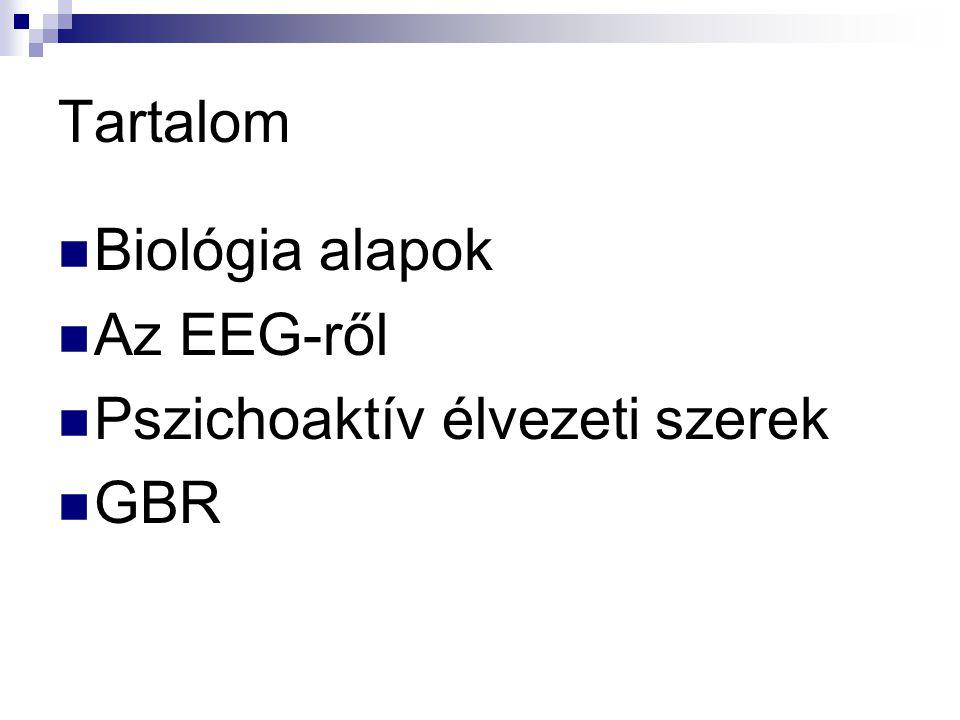 Tartalom Biológia alapok Az EEG-ről Pszichoaktív élvezeti szerek GBR