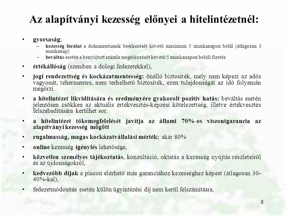 Az agrárfinanszírozás jellemzői a magyar agrárszektor finanszírozási helyzetét befolyásoló tényezők tőkeigényes ágazat a megtérülési idő viszonylag hosszú az árbevétel egyenetlensége finanszírozási csúcsok az átlagosnál nagyobb hiteligény 9