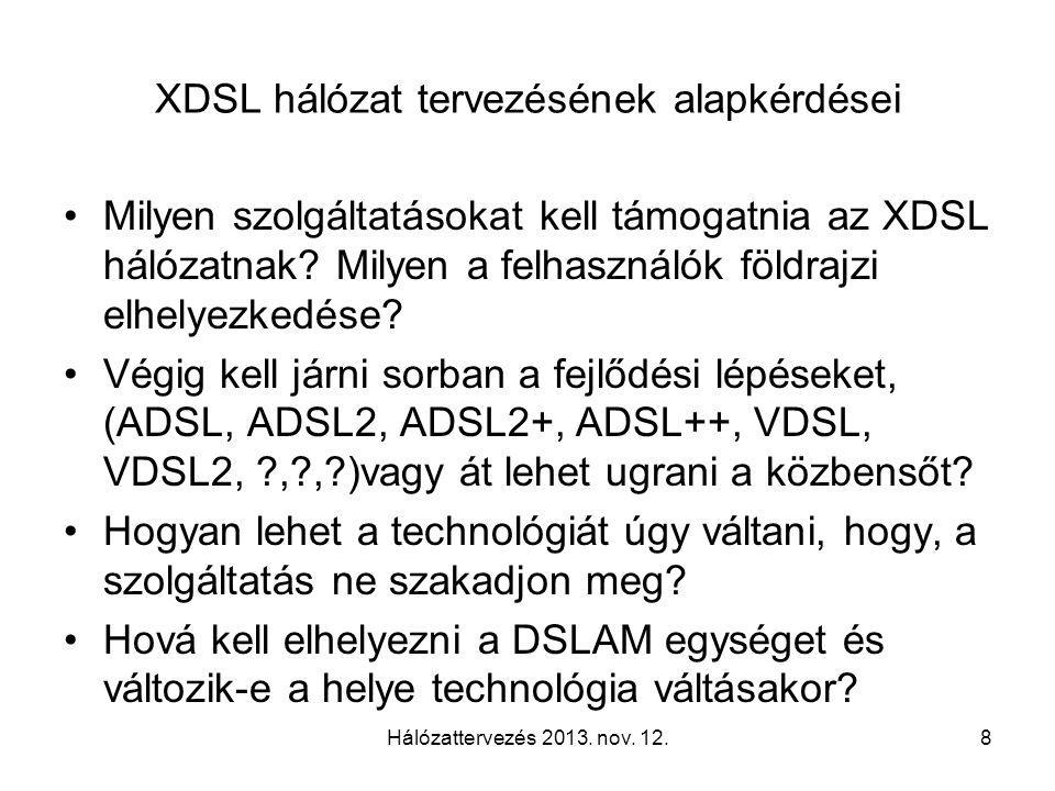 Hálózattervezés 2013. nov. 12.19