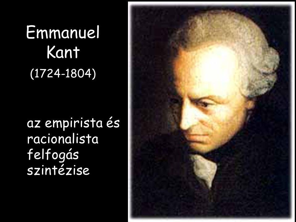 Emmanuel Kant (1724-1804) az empirista és racionalista felfogás szintézise