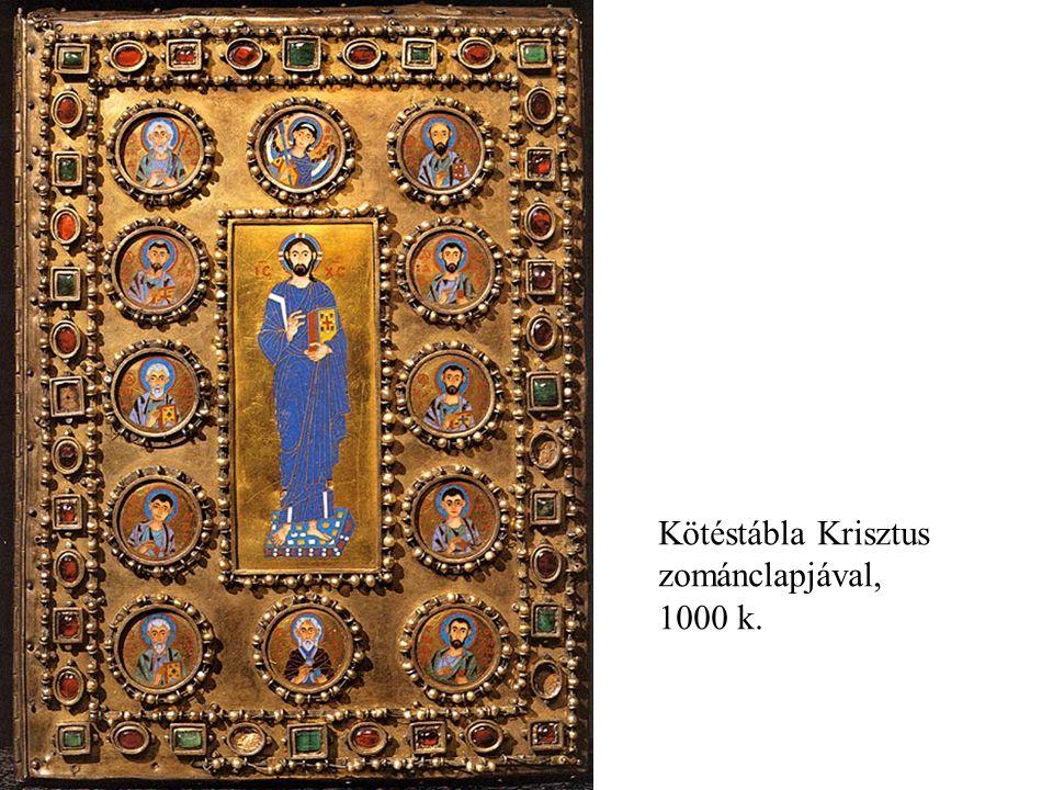 Kötéstábla Krisztus zománclapjával, 1000 k.