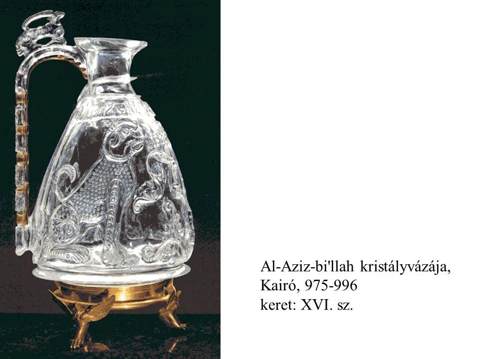 Al-Aziz-bi'llah kristályvázája, Kairó, 975-996 keret: XVI. sz.
