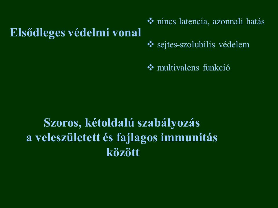 MHC I MHC II ß1 ß2m ß lánc ß2 lánc 1 2 2 3 1 44 kD 34 kD28 kD COOH 12 kD plazmamembrán NH2 Immunogén alloantigén fehérjék a sejtek felszínén Minden magvas sejt felszínén Nem-kovalens heterodimerek