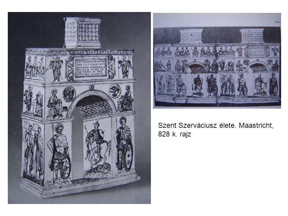 Szent Szerváciusz élete. Maastricht, 828 k. rajz