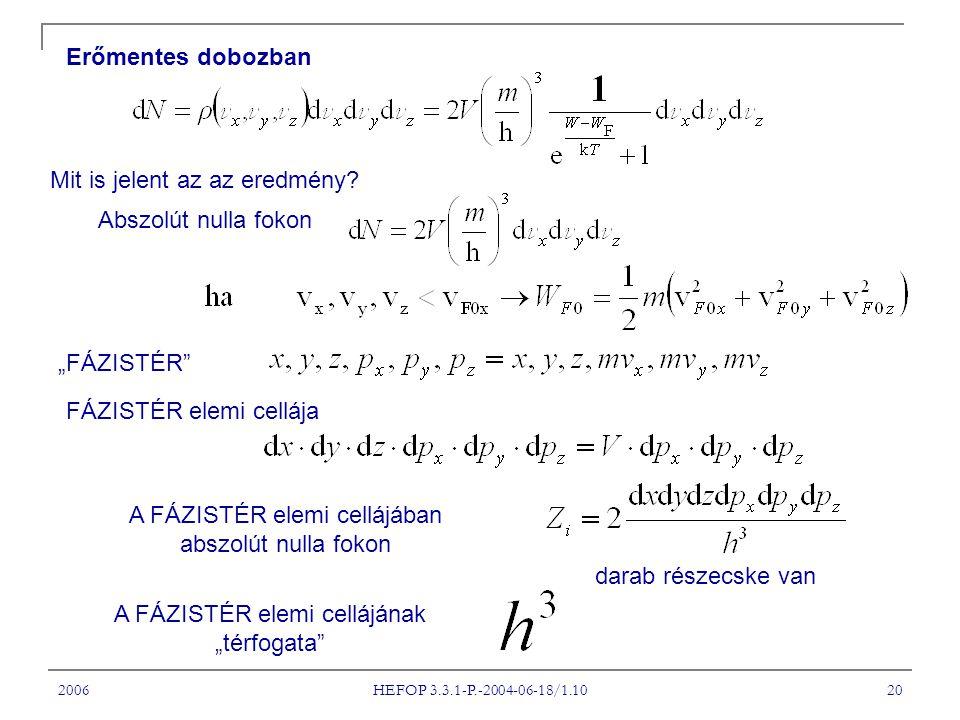 2006 HEFOP 3.3.1-P.-2004-06-18/1.10 20 Erőmentes dobozban Mit is jelent az az eredmény.