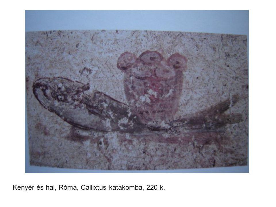 Kenyér és hal, Róma, Callixtus katakomba, 220 k.
