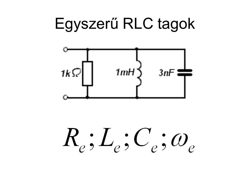 Egyszerű RLC tagok