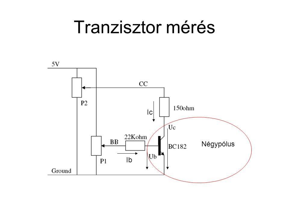 Tranzisztor mérés Ib Ic Négypólus