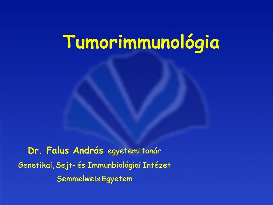 Dr. Falus András egyetemi tanár Genetikai, Sejt- és Immunbiológiai Intézet Semmelweis Egyetem Tumorimmunológia