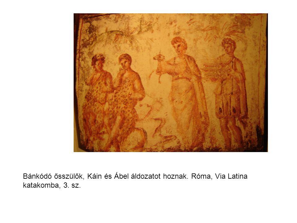 Jákob és fiai érkezése Egyiptomba. Róma, EB cubiculum, Bileám szamara, uo. F cubiculum, 3. sz.