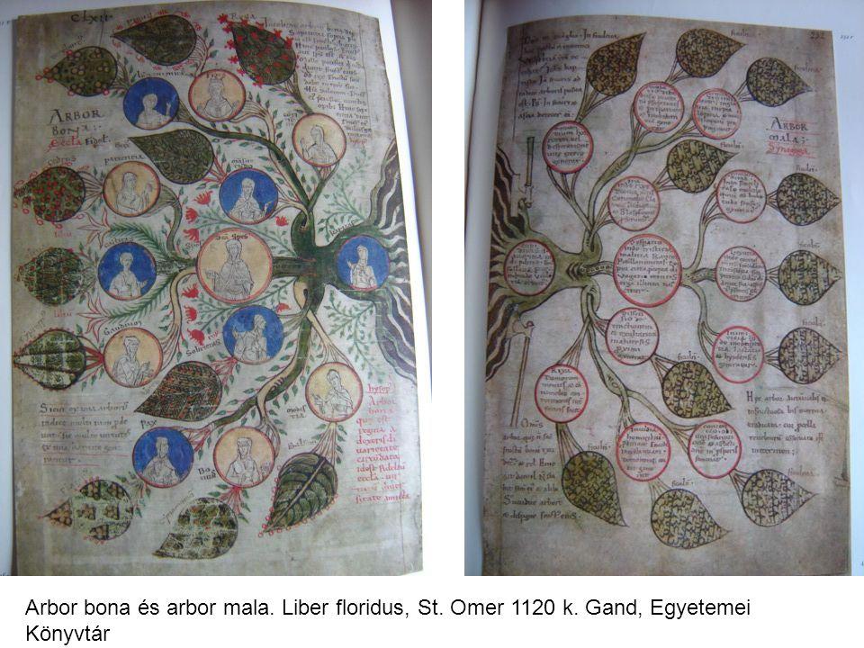 Arbor bona és arbor mala. Liber floridus, St. Omer 1120 k. Gand, Egyetemei Könyvtár