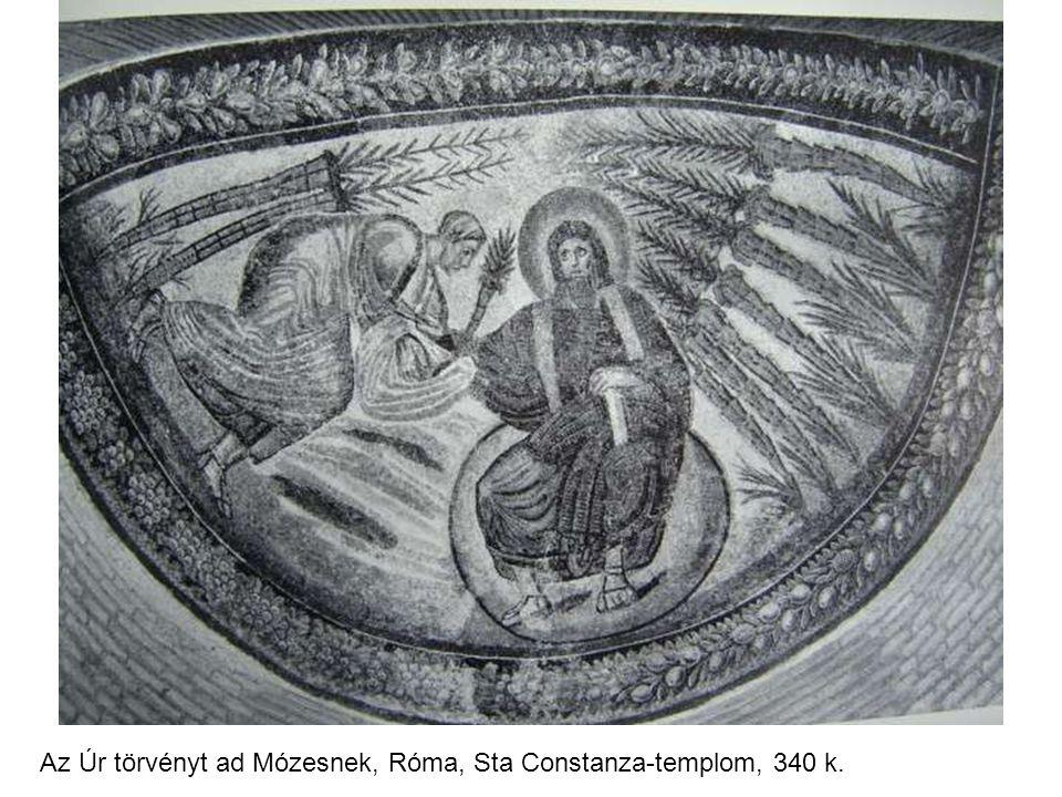 Az Úr törvényt ad Mózesnek, Róma, Sta Constanza-templom, 340 k.