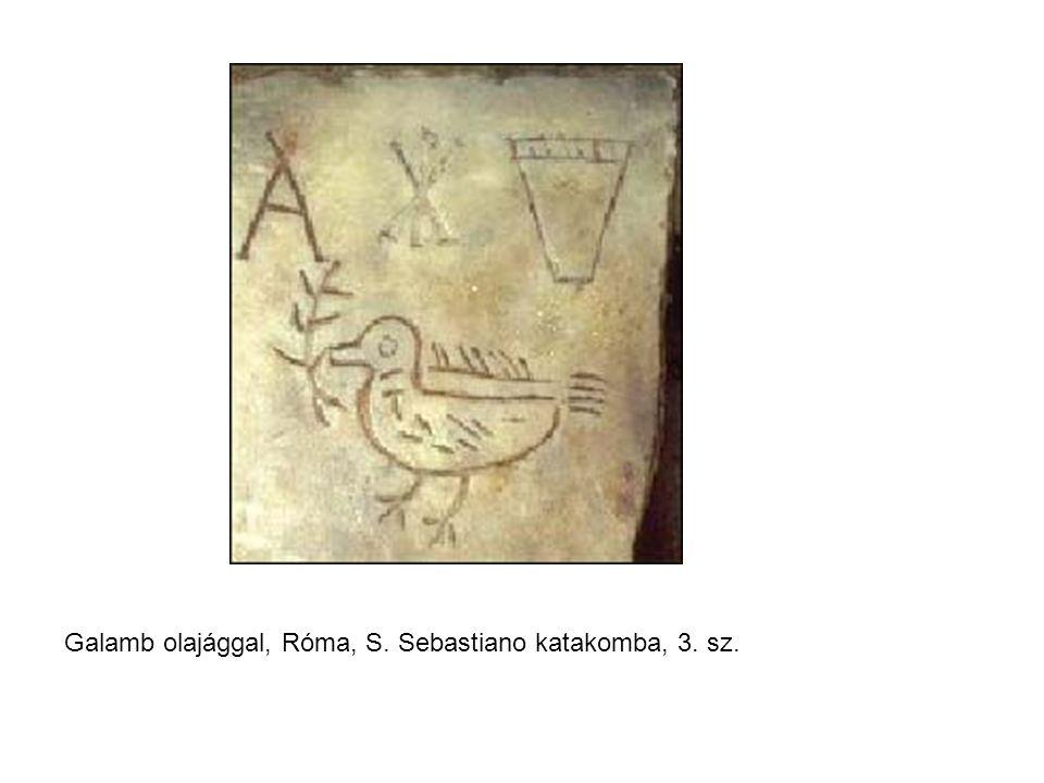 Galamb olajággal, Róma, S. Sebastiano katakomba, 3. sz.