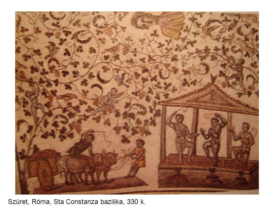 Szüret, Róma, Sta Constanza bazilika, 330 k.