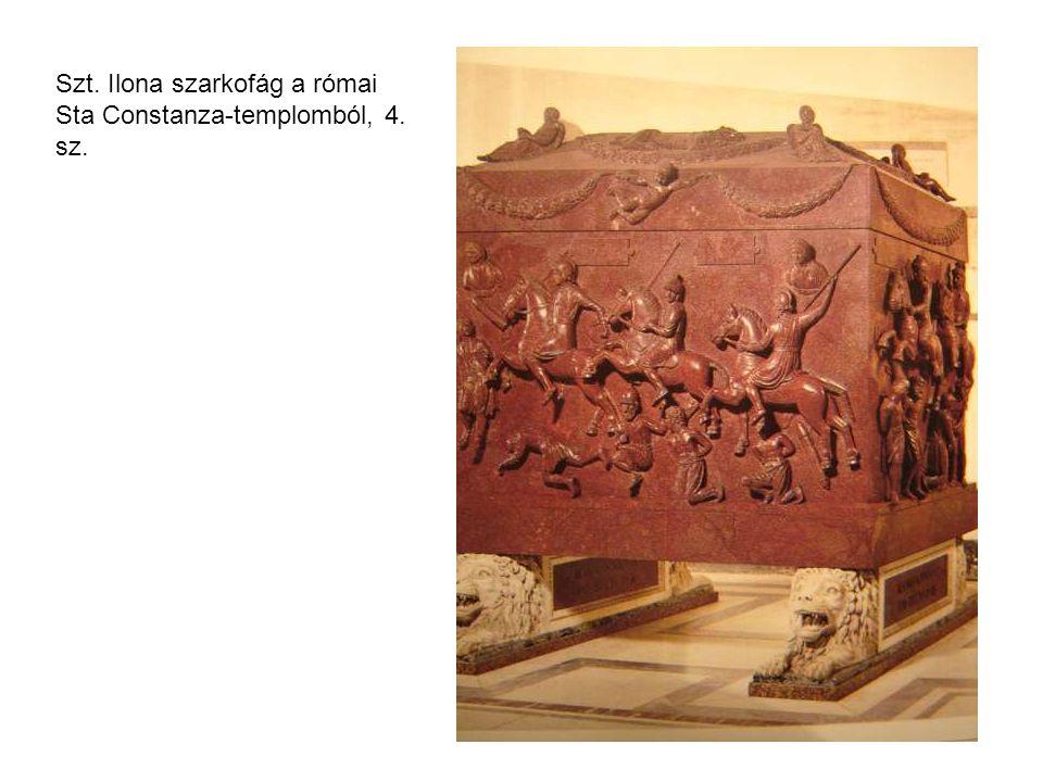Szt. Ilona szarkofág a római Sta Constanza-templomból, 4. sz.