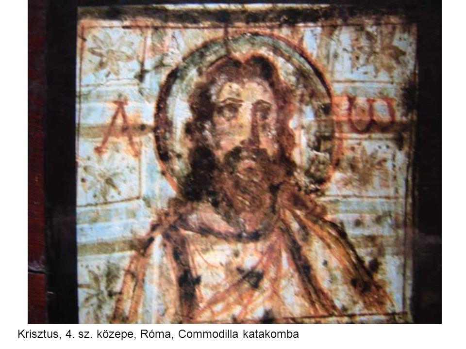 Krisztus, 4. sz. közepe, Róma, Commodilla katakomba
