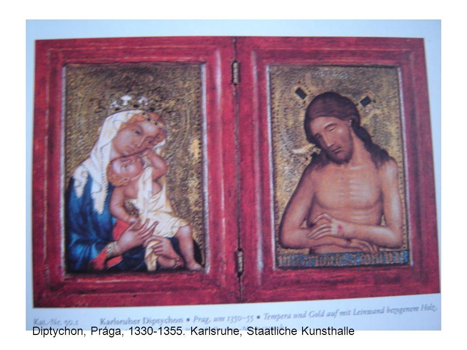Diptychon, Prága, 1330-1355. Karlsruhe, Staatliche Kunsthalle