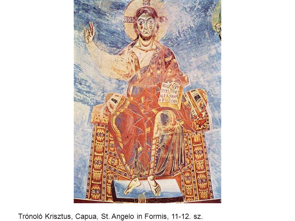 Trónoló Krisztus, Capua, St. Angelo in Formis, 11-12. sz.