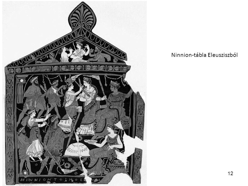 12 Ninnion-tábla Eleusziszból