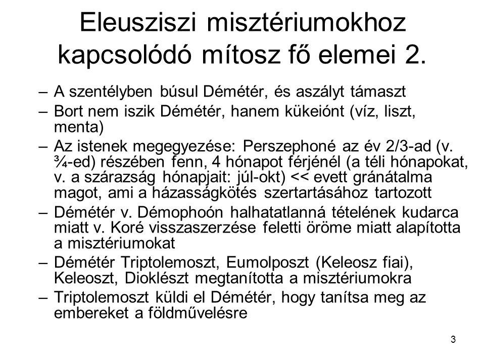 4 Eleusziszi misztériumok 1.