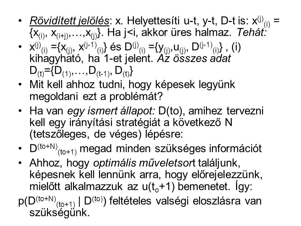 Rövidített jelölés: x. Helyettesíti u-t, y-t, D-t is: x (j) (i) = {x (i), x (i+j),…,x (j) }.