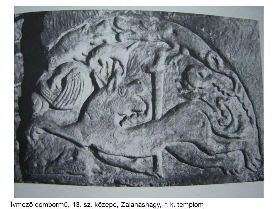 Ívmező dombormű, 13. sz. közepe, Zalaháshágy, r. k. templom
